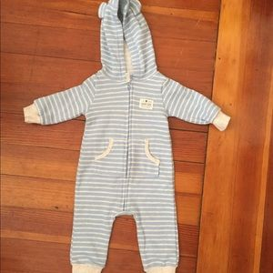 One piece jersey fleece romper